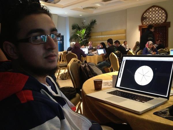 أحمد الجزار يعمل على إخراج العرض التقديمي لفكرة مشروع نظّملي